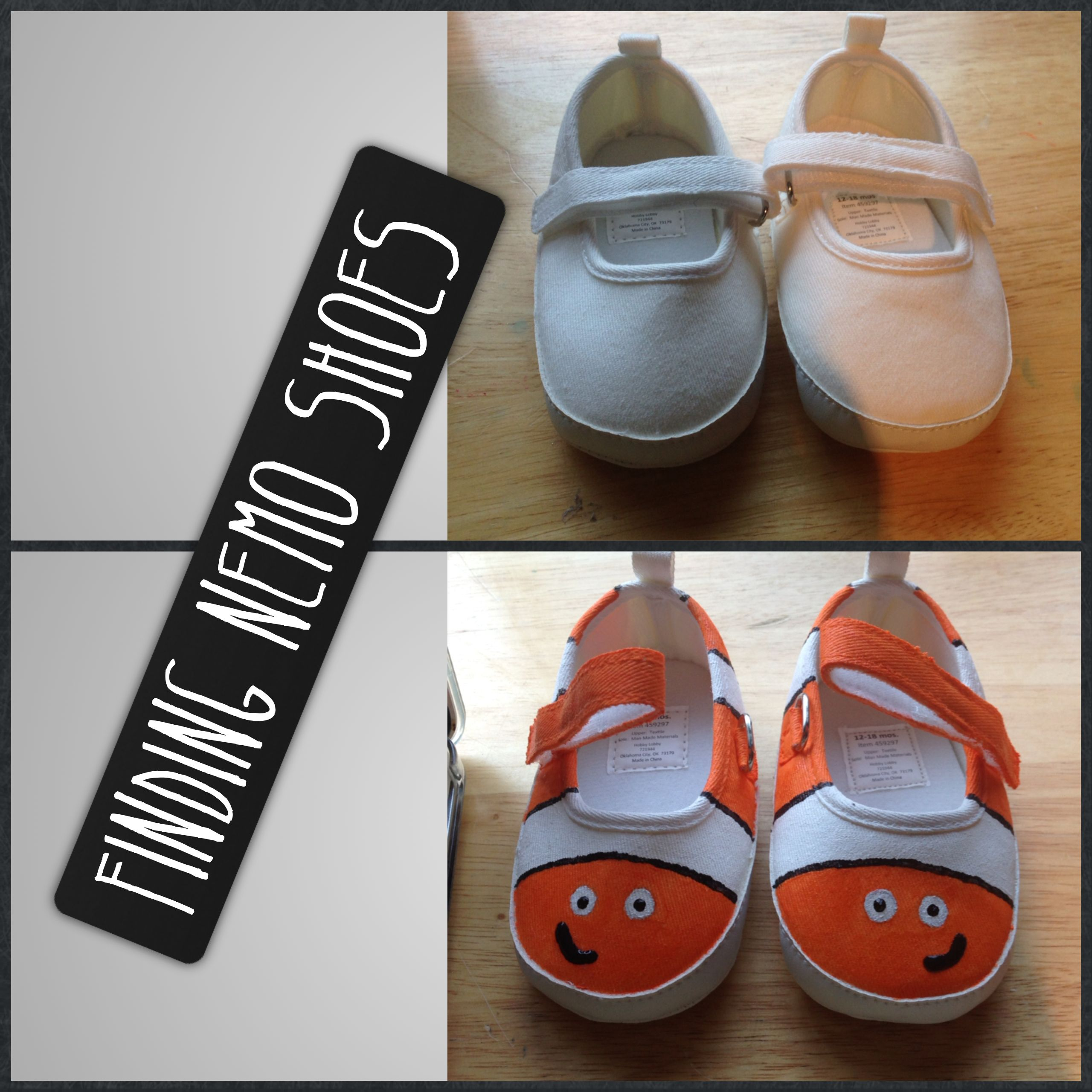 Glitter Glue And Paint Color Inspiration: Nemo Shoes (fabric Paint On Canvas Shoes)
