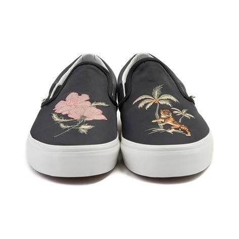 3e2657874fb Vans Slip On DX Souvenir Skate Shoe - black - 497187