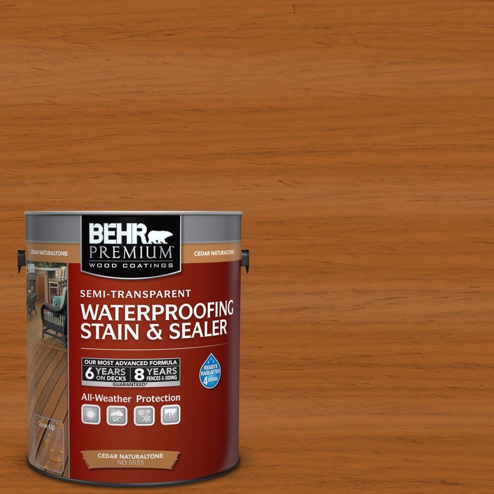 Behr Premium 1 Gal St 533 Cedar Naturaltone Semi Transparent