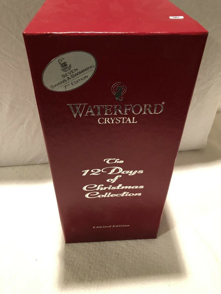 Waterford Crystal 12 Days of Xmas 5 Gold Ring Maureen Flute 5th 2007 Five Golden