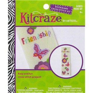 Kitcraze by Artiste Friendship Bookmark Cross Stitch Kit | Shop