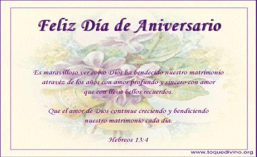 Tarjetas De Aniversario De Bodas: Tarjetas Cristianas Para Felicitar El Aniversario De Bodas