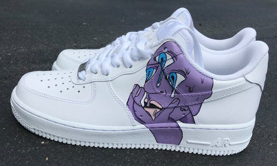 Purple Drippy Psychedelic Third Eye Custom Nike Air Force 1