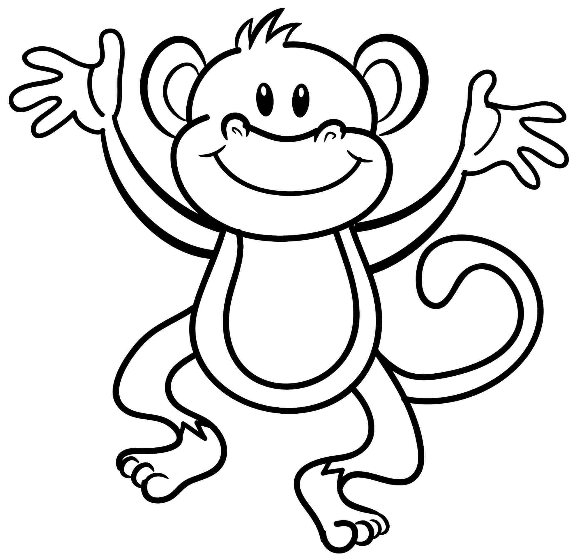 75 Coloring Pages Monkey Download Free Images