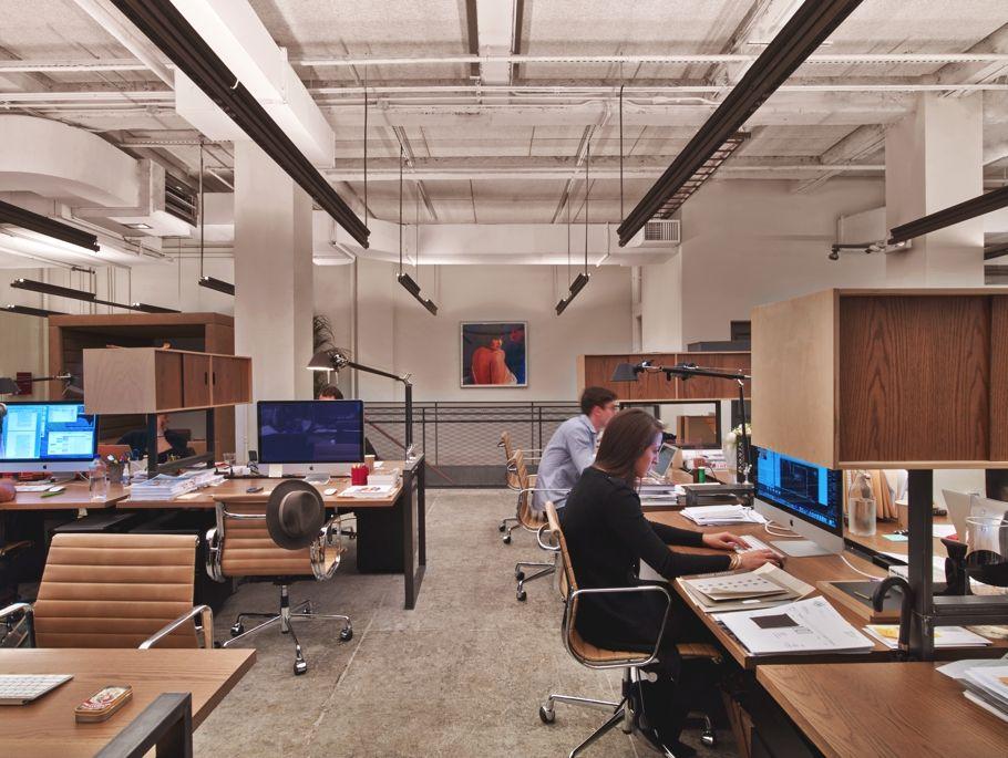 Modern office design neuehouse new york by david for Modern house new york