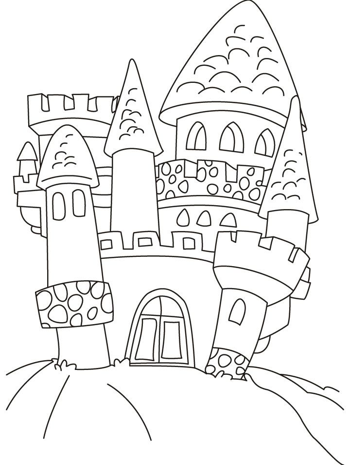 Old Castle Coloring Pages