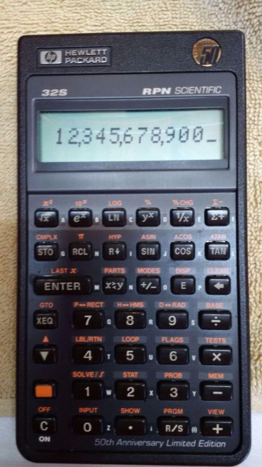 Hewlett Packard Calculator  HpS Anniversary Edition  Hewlett
