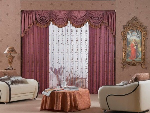 Living Room Curtains Designs Prepossessing Contemporary Minimalist Living Room Classic Style 6  Cortinas Design Decoration