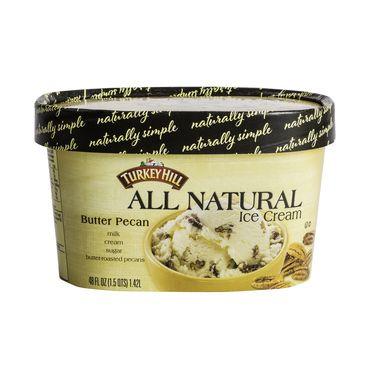 Turkey Hill All Natural Ice Cream Butter Pecan #icecream #healthy #dessert http://greatist.com/eat/best-ice-cream-frozen-desserts