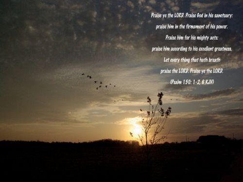 Psalm 150: 1-2,6