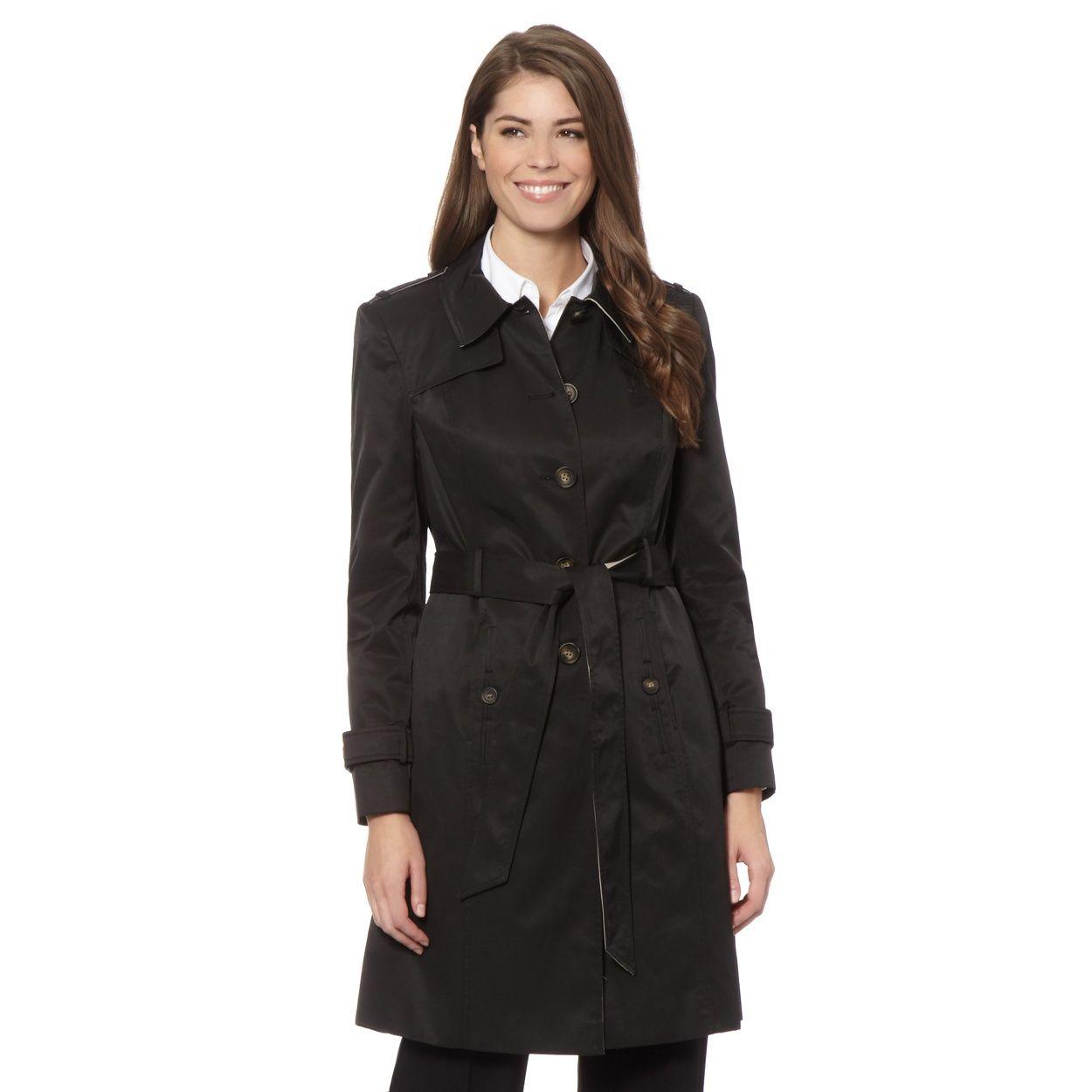 The Collection Black single breasted mac coat- at Debenhams.com ...