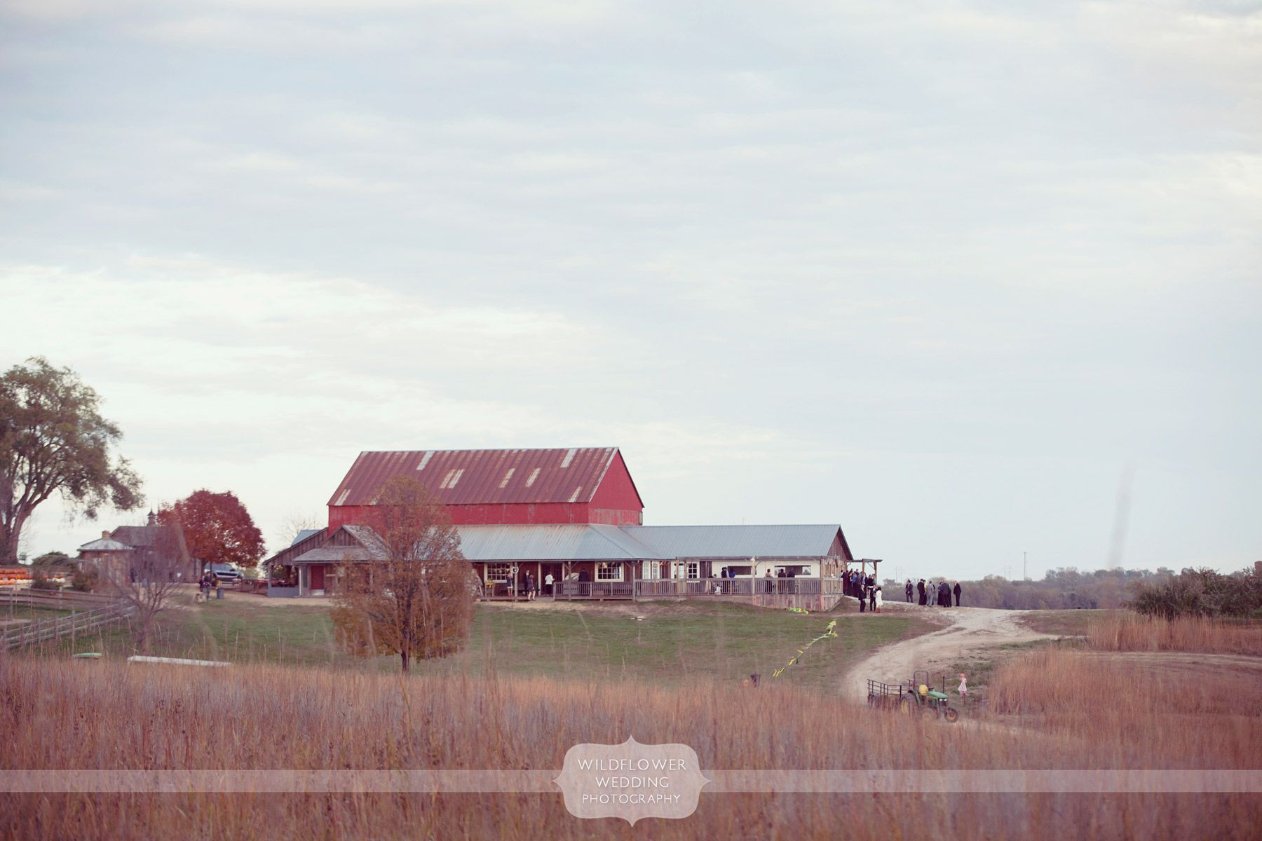 View of the Weston Red Barn Farm wedding venue just north ...