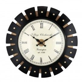 12 Inch Dial Mdf Design Wooden Wings Decorative Wall Clock Wall