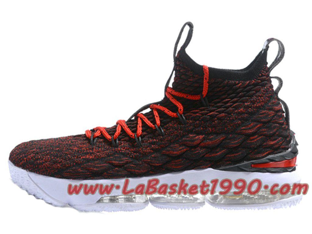 4757f08ee64 Nike LeBron 15 XV Chaussures Nike Prix Pas Cher Pour Homme Officiel 2018  Rouge Noir