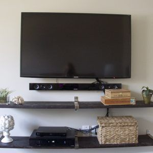 Wall Mounted Shelves For Under Tv | http://epochjournal.org | Pinterest |  Mounted tv, Wall mount and Wall mounted shelves