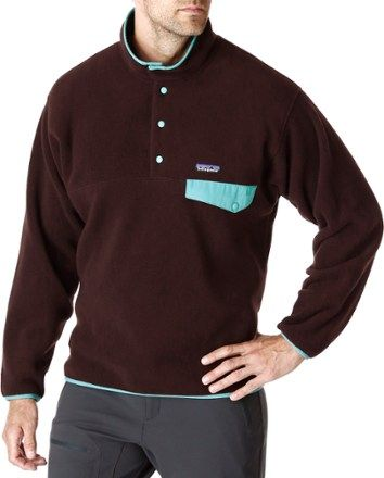 Patagonia Men's Synchilla Snap-T Fleece Pullover Roots Red XXL ...