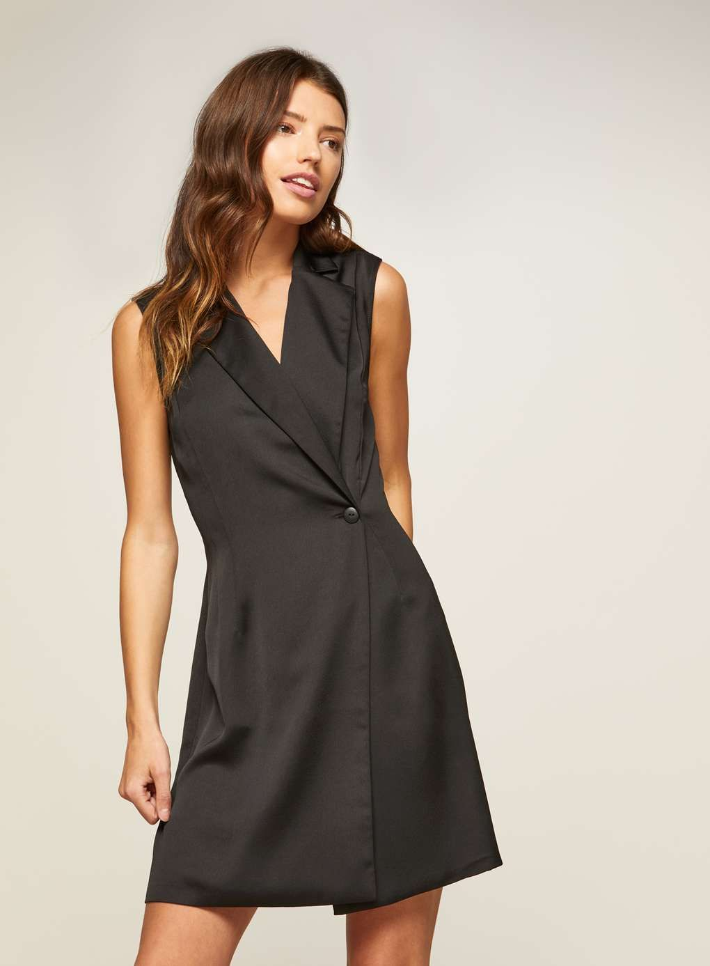 Black tuxedo wrap dress fashion outfits tuxedo dress