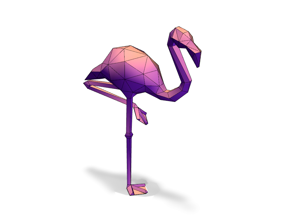 Lowpoly Flamingo A 3d Model Created With Vectary The Free Online 3d Modeling Tool 3dprinting 3d Model 3d Printer Models Flamingo Model