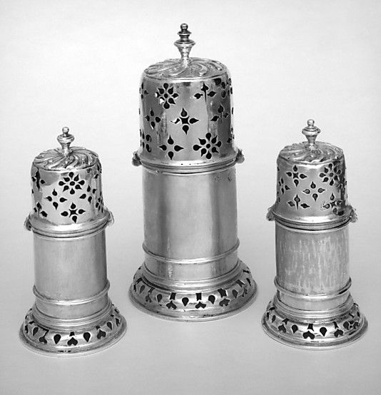 Set of three casters Anthony Nelme   London  (active 1685, died 1722) Nelme was a Huguenot