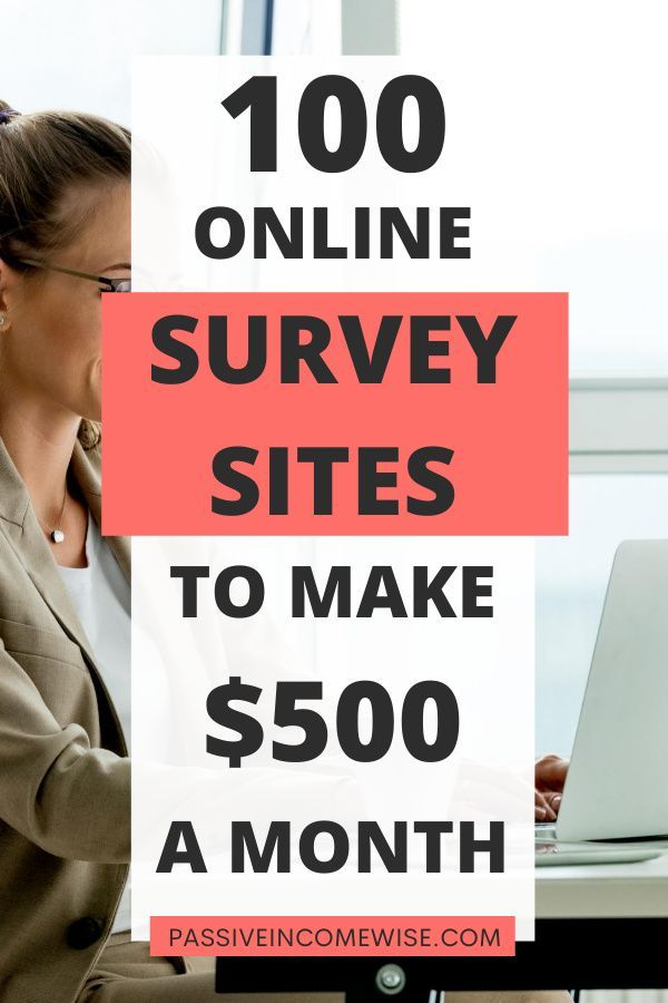 Before I started blogging, one of the ways I made extra cash was by doing free online surveys. I didn't get rich from taking these online surveys, but I made a good side income by spending a little bit of my time every day. This list has the 100 best survey sites to make money as a side hustle. #BestSurveySites #PaidSurveySites #OnlineSurveySites #MakeMoneyOnline #MakeExtraMoney #SurveysForMoney