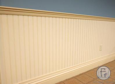 beadboard in dining room | beadboard - dining room chair rail? Blue on bottom, cream ...