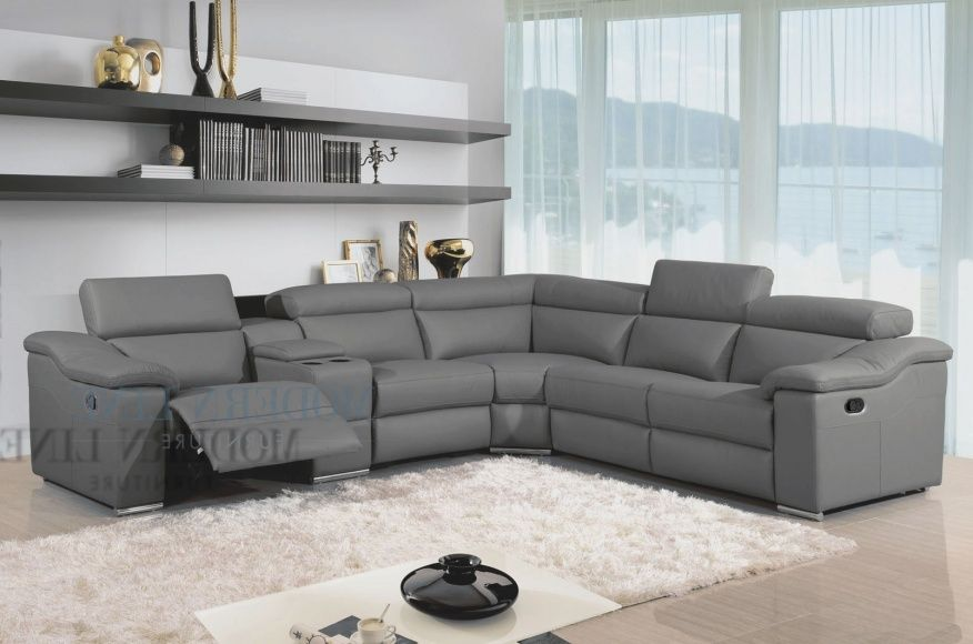 Modern Reclining Sectional Sofas Contemporary Leather Sofa Sectional Sofa With Recliner Reclining Sectional