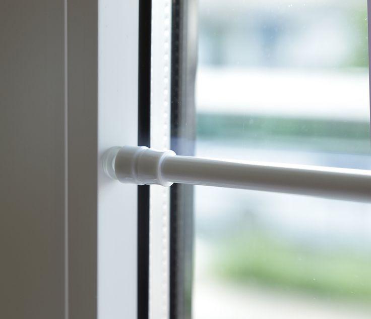 Tur Fenster Klemmstange Gardinenstange Ohne Bohren Fur Scheibengardinen Oder Turvorhange 1166 Weiss 40 Bis 60 Cm Curtains Curtain Rods Windows And Doors
