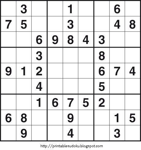 picture relating to Printable Sudoku Puzzles 6 Per Page called Printable Straightforward Sudoku upon Printable Sudoku Maths Sudoku