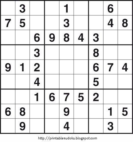 easy printable sudoku