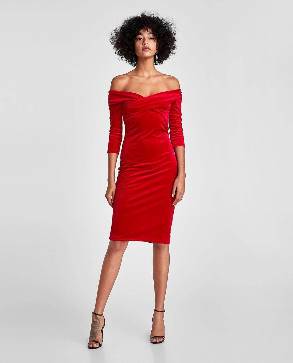 f6a9c122 Image 1 of VELVET TUBE DRESS from Zara | zara faves. | Dresses, Red ...