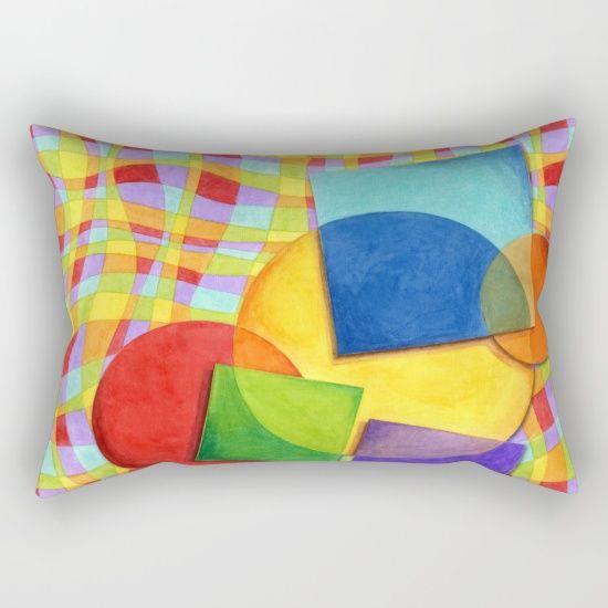 Candy Rainbow Circus Plaid Rectangular Pillows by #PatriciaSheaDesigns on Society6
