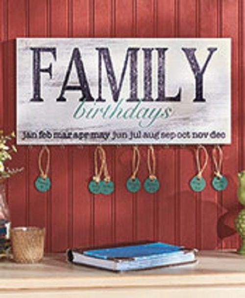 Family Birthdays Decorative Wall Plaque Decor