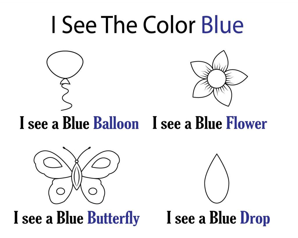 Blue Coloring Pages Preschool Printables Color Blue Activities