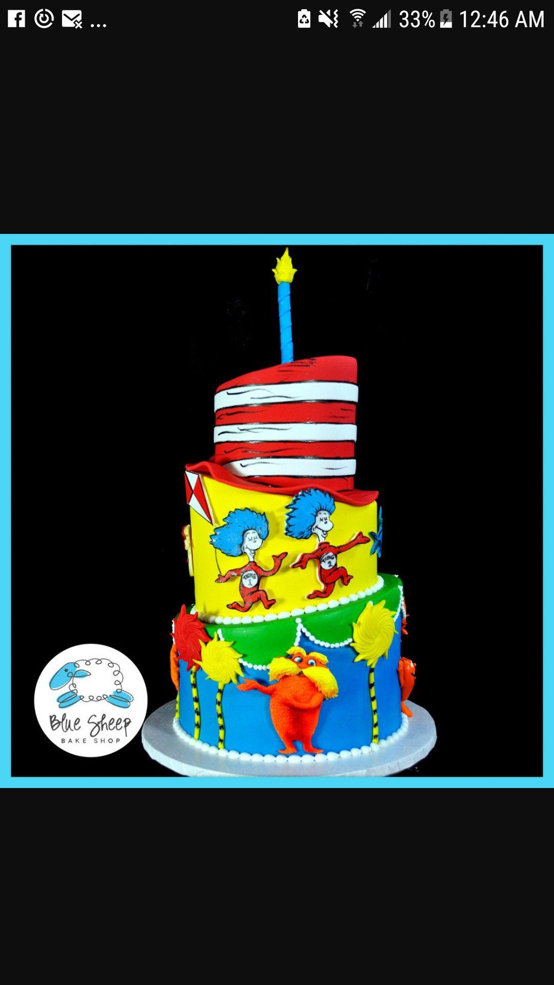 Dr Seuss Birthday Cake Twins 1st Bday Pinterest Dr Seuss Birthday