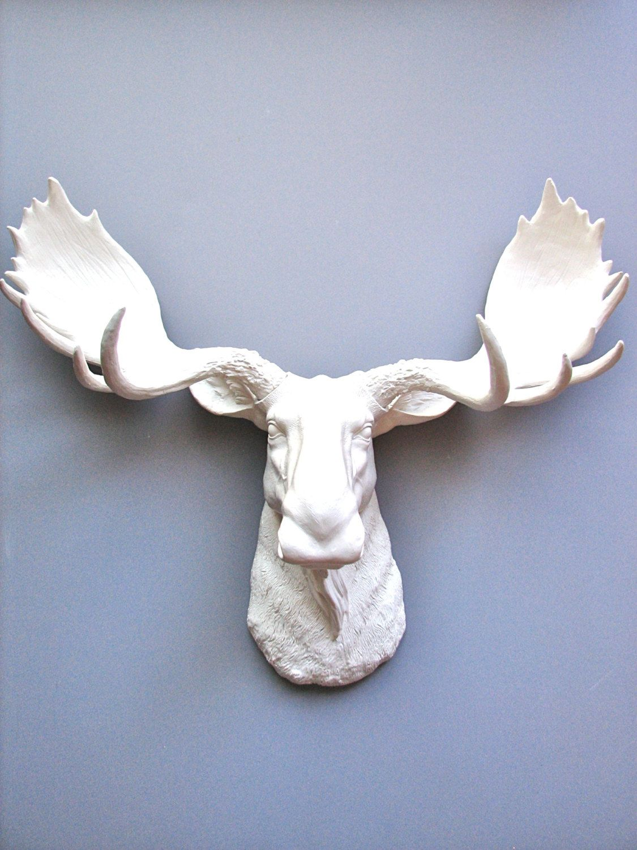 Faux Taxidermy Moose Head Wall Hanging Decor By Mahzerandvee