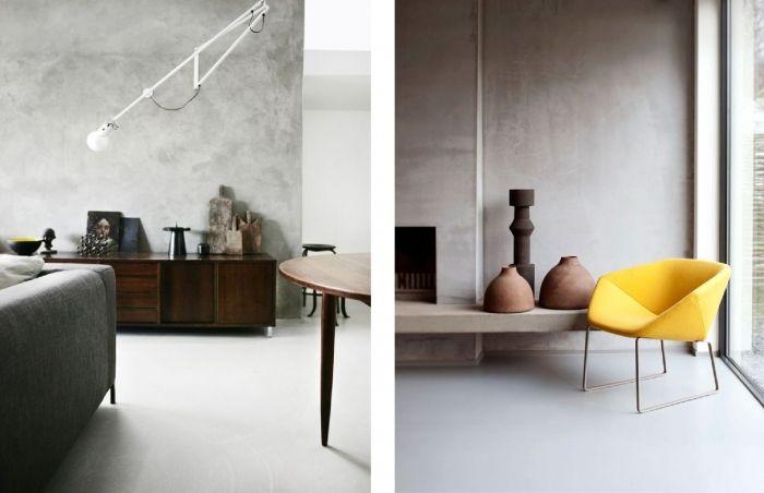 Betonstuc in de woonkamer huis ideeen