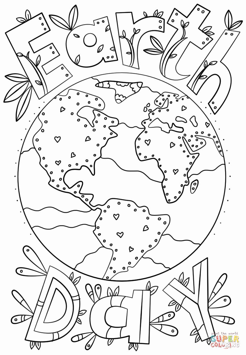 Earth Day Printable Coloring Pages Awesome Earth Day Doodle Coloring Page In 2020 Earth Day Coloring Pages Earth Coloring Pages Coloring Pages
