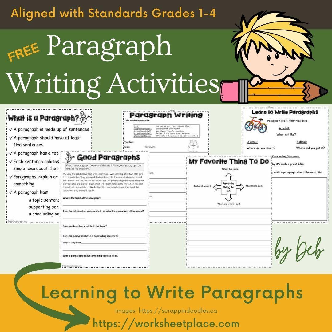 Free Paragraph Writing Activities Paragraph Writing Worksheets Paragraph Writing Paragraph Writing Activities [ 1080 x 1080 Pixel ]