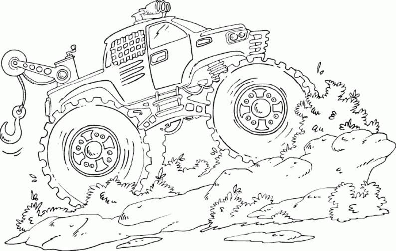 Coloring Page Monster Truck Free Monster Truck Coloring Pages Truck Coloring Pages Halloween Coloring Pages
