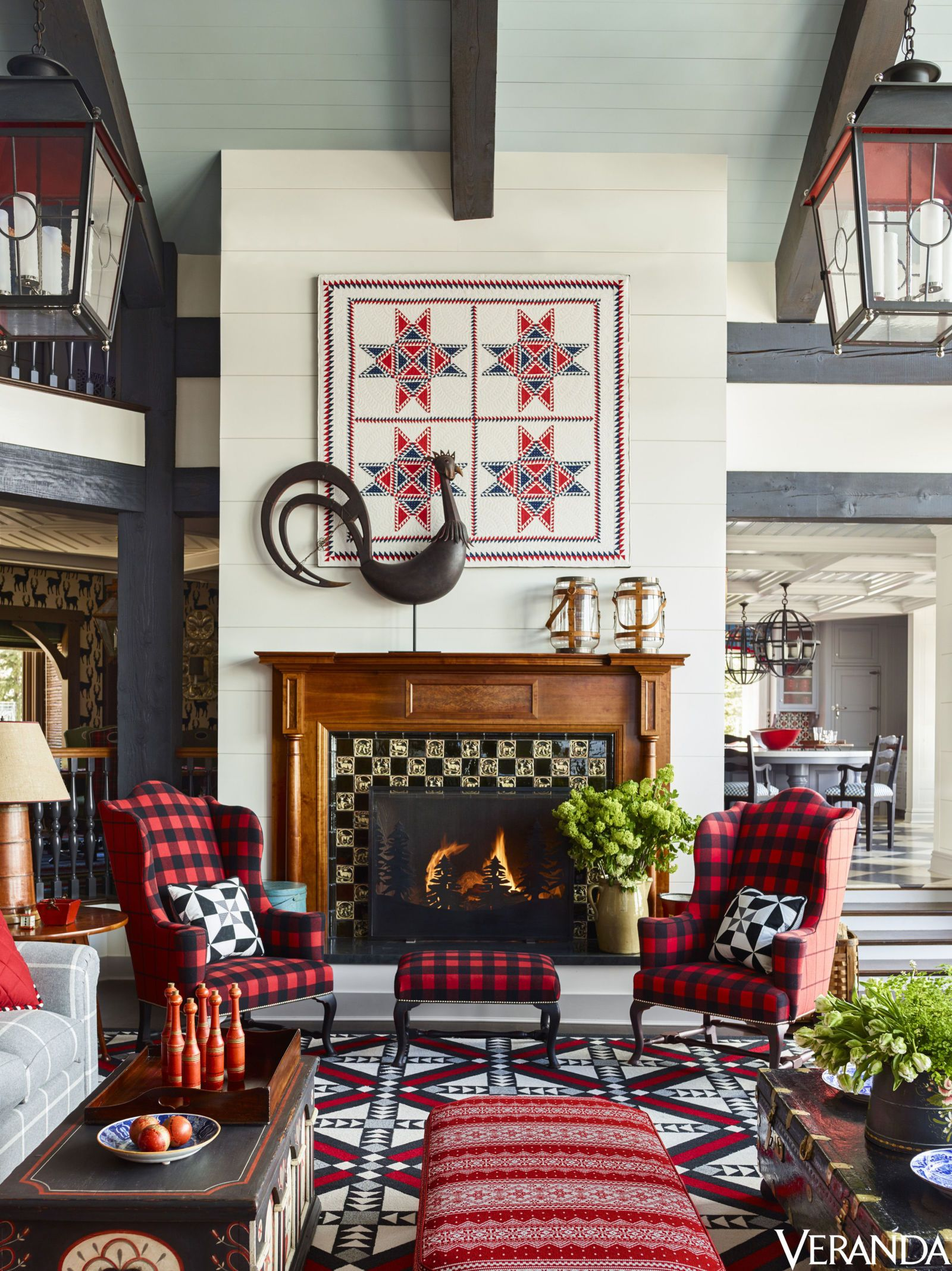 Tour A Utah Ski House With Playful All American Style -