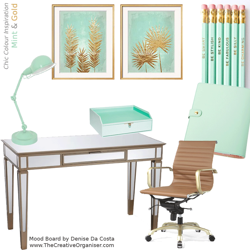 Top chiccolorinspiration #colorcombination #mint #gold #homeoffice More 850 x 850 · 191 kB · png