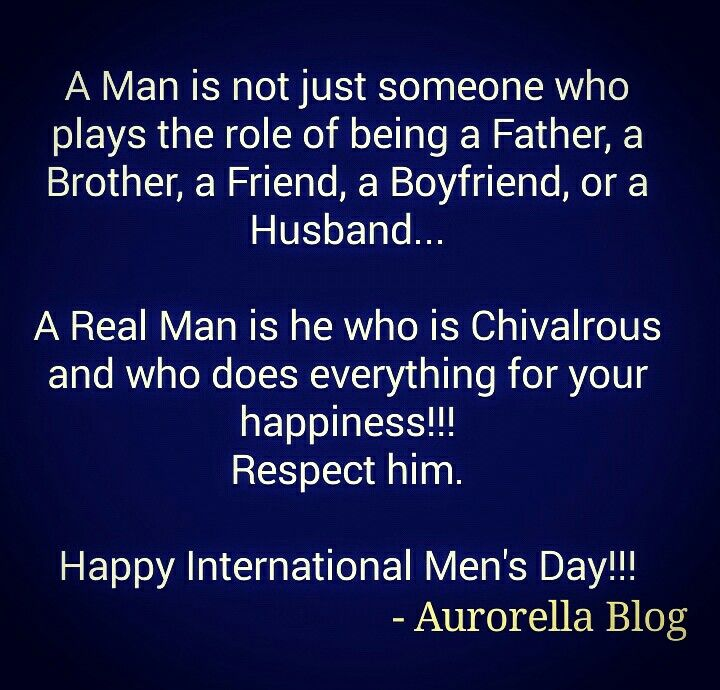 Happy International Mens Day Aurorella Aurorellablog