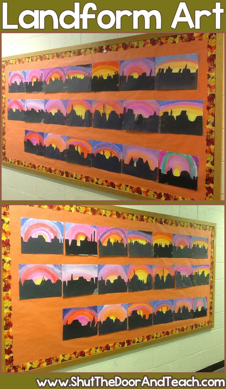 This fun art project helps kids remember the landforms of the southwest region and makes a dramatic display!