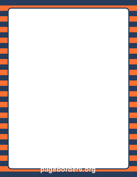 printable orange and blue striped border use the border in microsoft word or other programs for creating flyers invitations and other printables