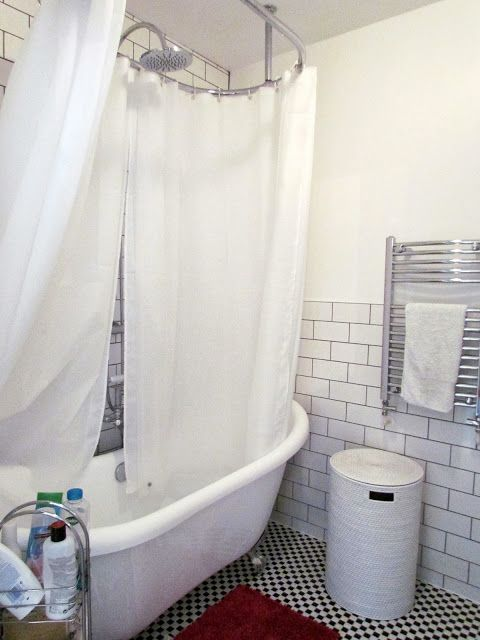 A Shower Curtain Rod For Our Freestanding Bath Shower Over Bath Bathroom Shower Standing Shower