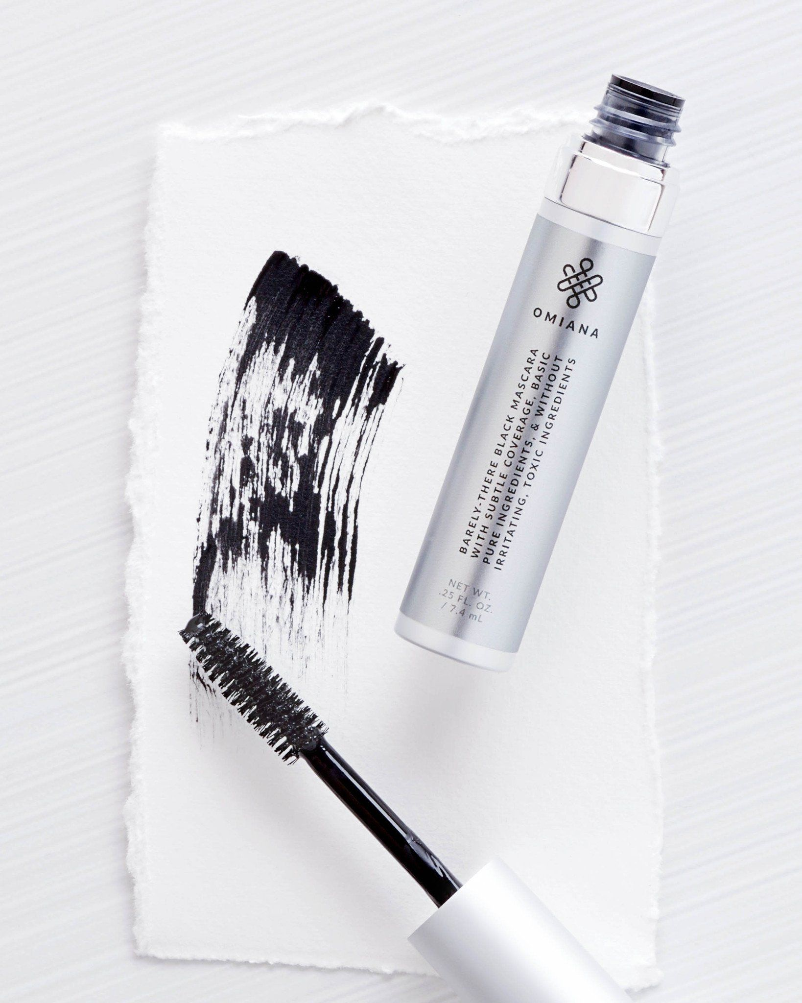 Barely there Mascara made with organic ingredients No