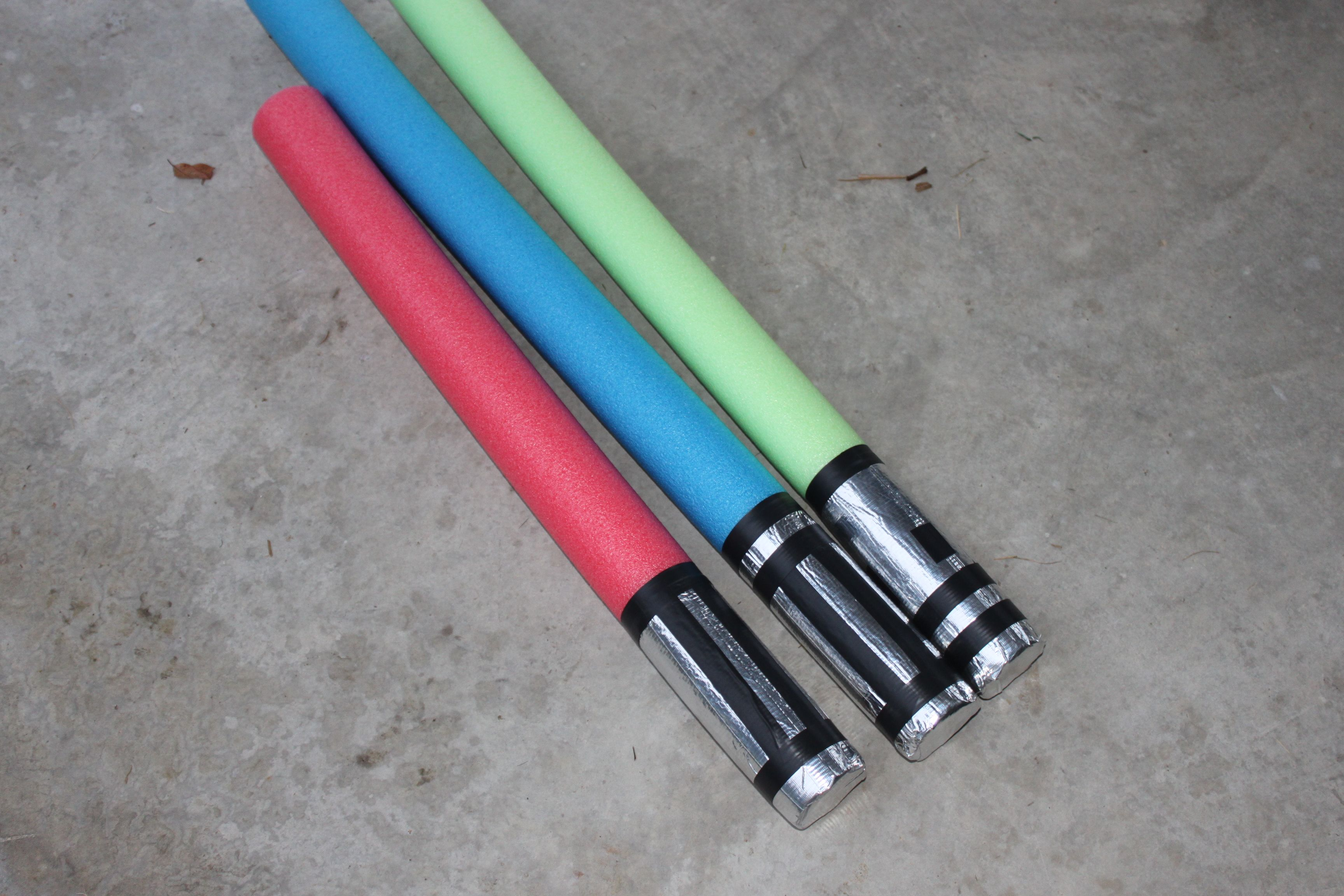 Make a Pool Noodle Lightsaber | Pool noodle crafts, Boy craft and ... for How To Make A Lightsaber For Kids  589ifm