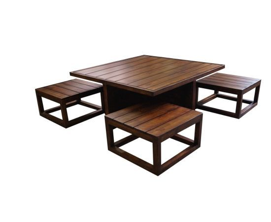 Plus Space Saving Coffee Table Set Coffee Table Stool Set