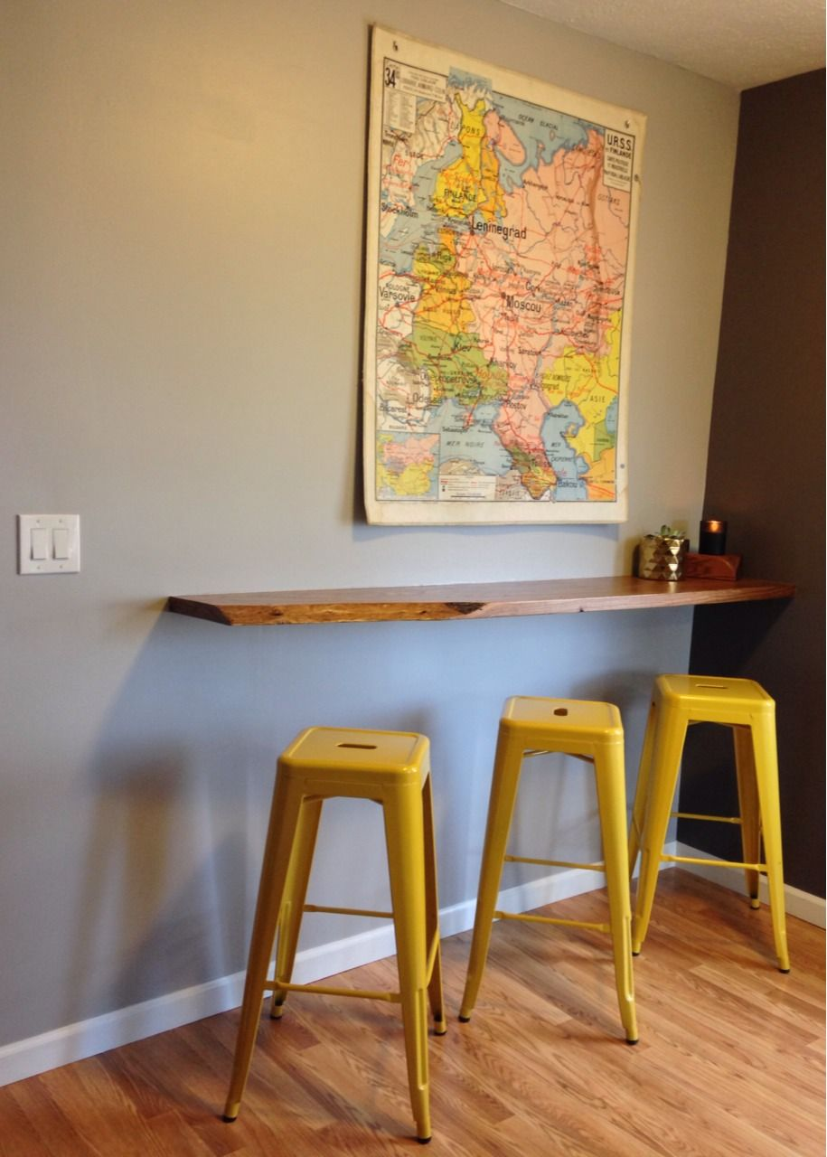 Floating Breakfast Bar, Wall Mounted Breakfast Bar | Decorvoon · Wall  Mounted Kitchen TableWall ...