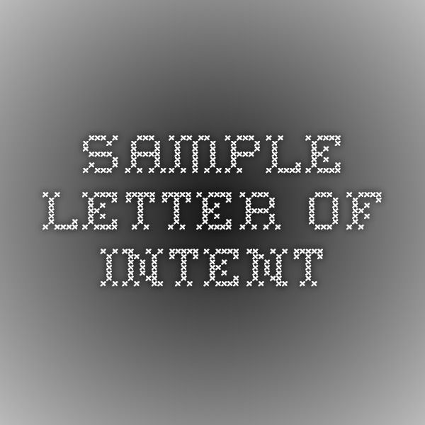 sample letter of intent Homeschooling - Supplements and Adjuncts
